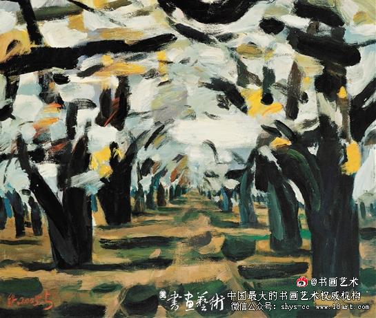 铁扬 赵州梨花 180×150cm 油画 2005年