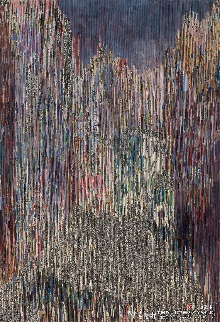 邱积钏 《源代码 自信之国》 综合材料绘画 221cm×150cm 浙江